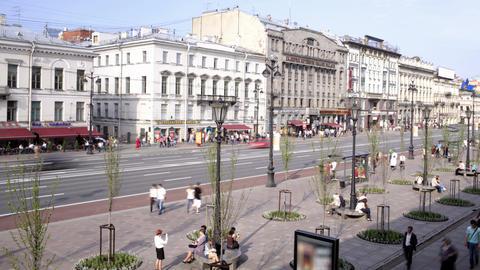Nevsky prospect. Time lapse 2 Footage