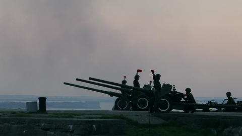 artillery battery 264 Stock Video Footage