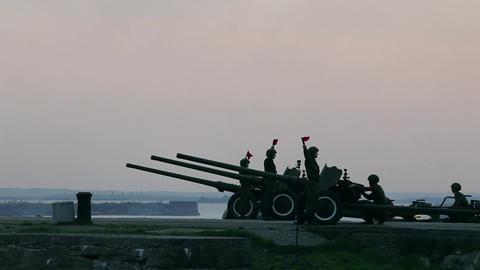 artillery battery 264 Stock Video Footage