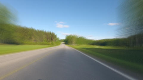 Driving on Finish road Stock Video Footage