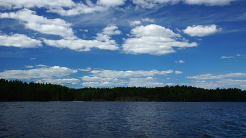 Lake in Finland Stock Video Footage