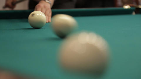 hit billiard balls Footage