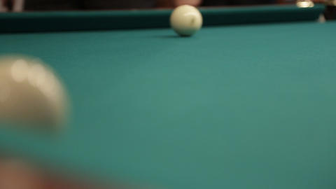 hit billiard balls Stock Video Footage