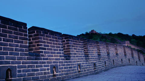 Great Wall Of China. Timelapse stock footage