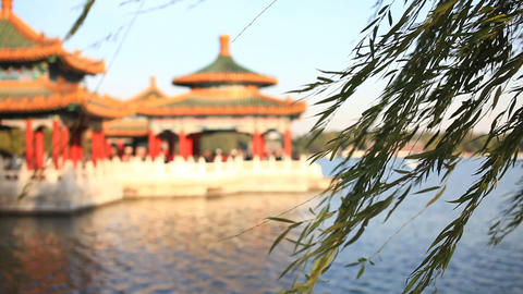 Beautiful Scene Of Beijing: Beihai Park stock footage