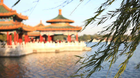 Beautiful Scene of Beijing: Beihai Park Stock Video Footage