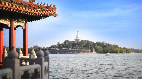 Beautiful Scene of Beijing: Beihai Park Stock Video Footage