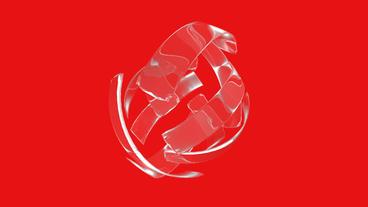 rotation glass ribbon shaped ball,high tech energy... Stock Video Footage