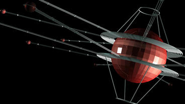 rotation satellite in space Animation