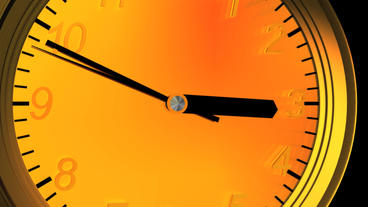 3d clock from far to near,time lapse Stock Video Footage
