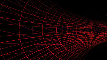 travel in red grid tunnel,tech future virtual background Animation