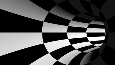 tralver tunnel spiral-white & black,another world... Stock Video Footage