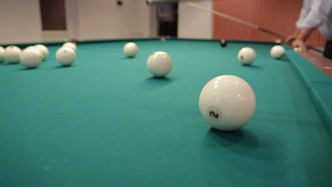 sequence hit billiard balls sound Footage