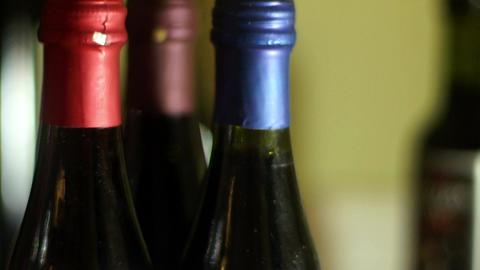 wine dizziness Stock Video Footage