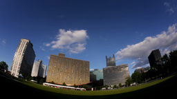 Pittsburgh Skyline Timelapse Stock Video Footage