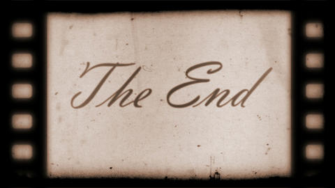 The End Vintage Filmstrip Stock Video Footage