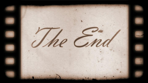 The End Vintage Filmstrip Stock Video Footage
