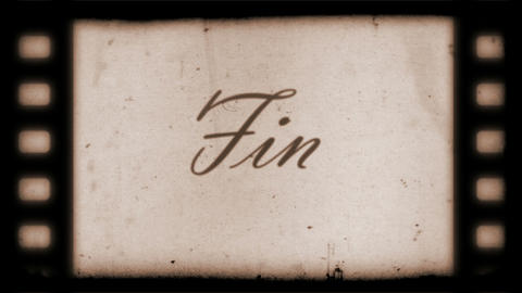 The End Vintage Filmstrip (in spanish) Stock Video Footage