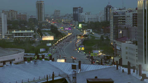 Novosibirsk downtown Footage