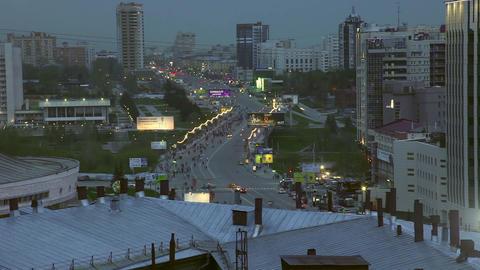 Novosibirsk downtown Footage