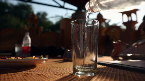 Glass of water Stock Video Footage
