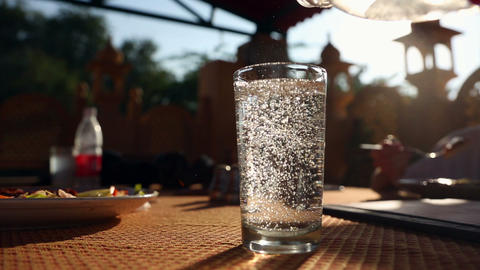 Glass Of Water stock footage