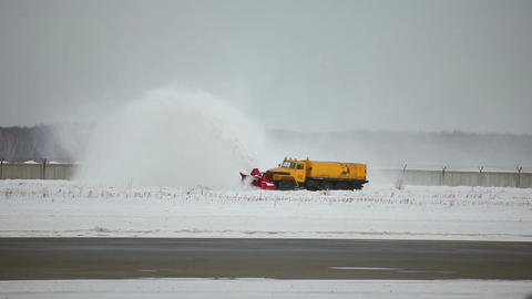 Airport winter service Stock Video Footage