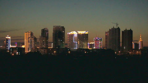 Heihe City Night Skyline Stock Video Footage