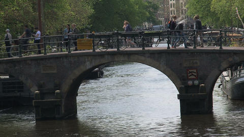 Canal bridge Stock Video Footage