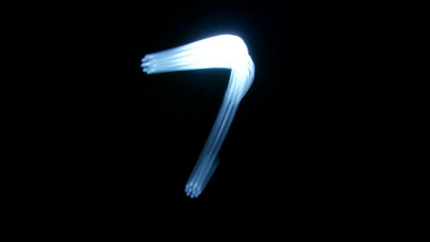 light stream number Stock Video Footage
