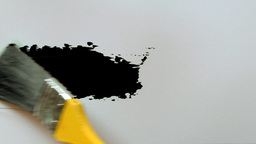 paintbrush painting isolated 08 Stock Video Footage