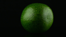 Avocado on black Stock Video Footage