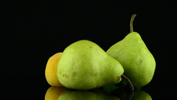 Apricots and pears Stock Video Footage