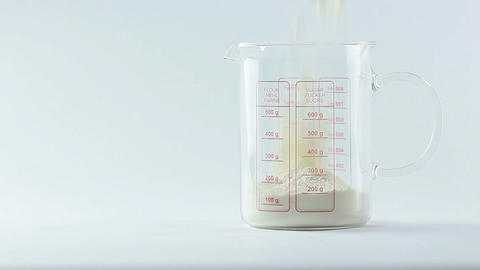 Pouring flour Stock Video Footage
