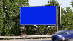 Blank Roadside Billboard Stock Video Footage