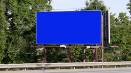 Blank Roadside Billboard stock footage