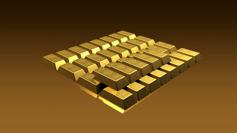 Growing Gold Bricks Pyramid Animation