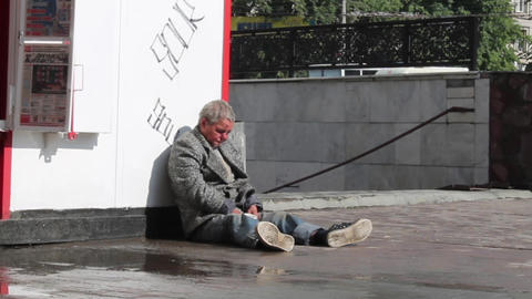 Homeless Stock Video Footage