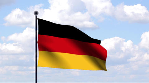 Animated Flag of Germany / Animierte Flagge von De Stock Video Footage