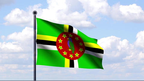 Animated Flag of Dominica Animation