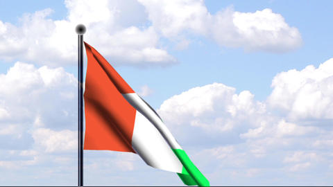 Animated Flag of Ivory Coast / Animierte Flagge vo Stock Video Footage