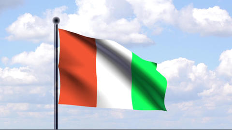 Animated Flag of Ivory Coast / Animierte Flagge vo Animation