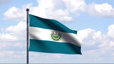 Animated Flag of El Salvador Animation