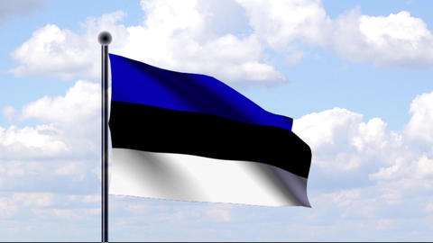Animated Flag of Estonia / Animierte Flagge von Es Animation