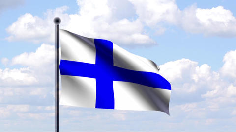 Animated Flag of Finland / Animierte Flagge von Fi Animation