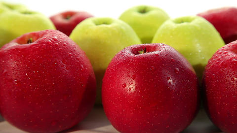 Tasty fresh apples, dolly shot Stock Video Footage