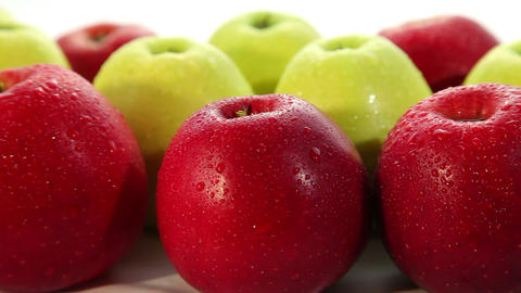 Tasty fresh apples, dolly shot Footage