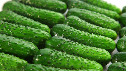 Fresh cucumber, dolly shot Stock Video Footage