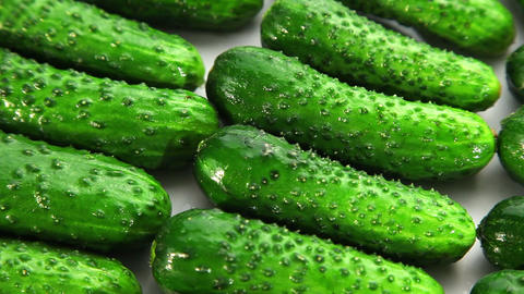 Cucumber, dolly shot Stock Video Footage