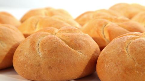 Tasty bread, rolls, dolly shot Stock Video Footage